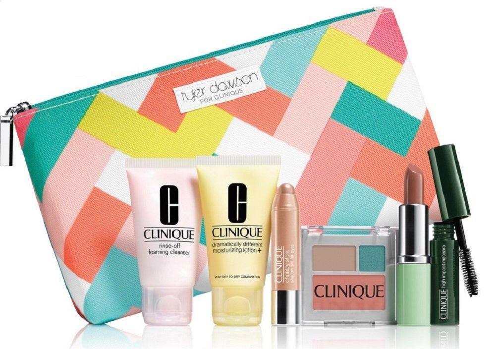 Clinique 6 Pieces Makeup Set Plus Cosmetics Bag S Spring New