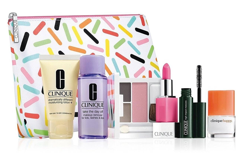 Clinique 6 Pc. Makeup Set Plus Cosmetics Bag