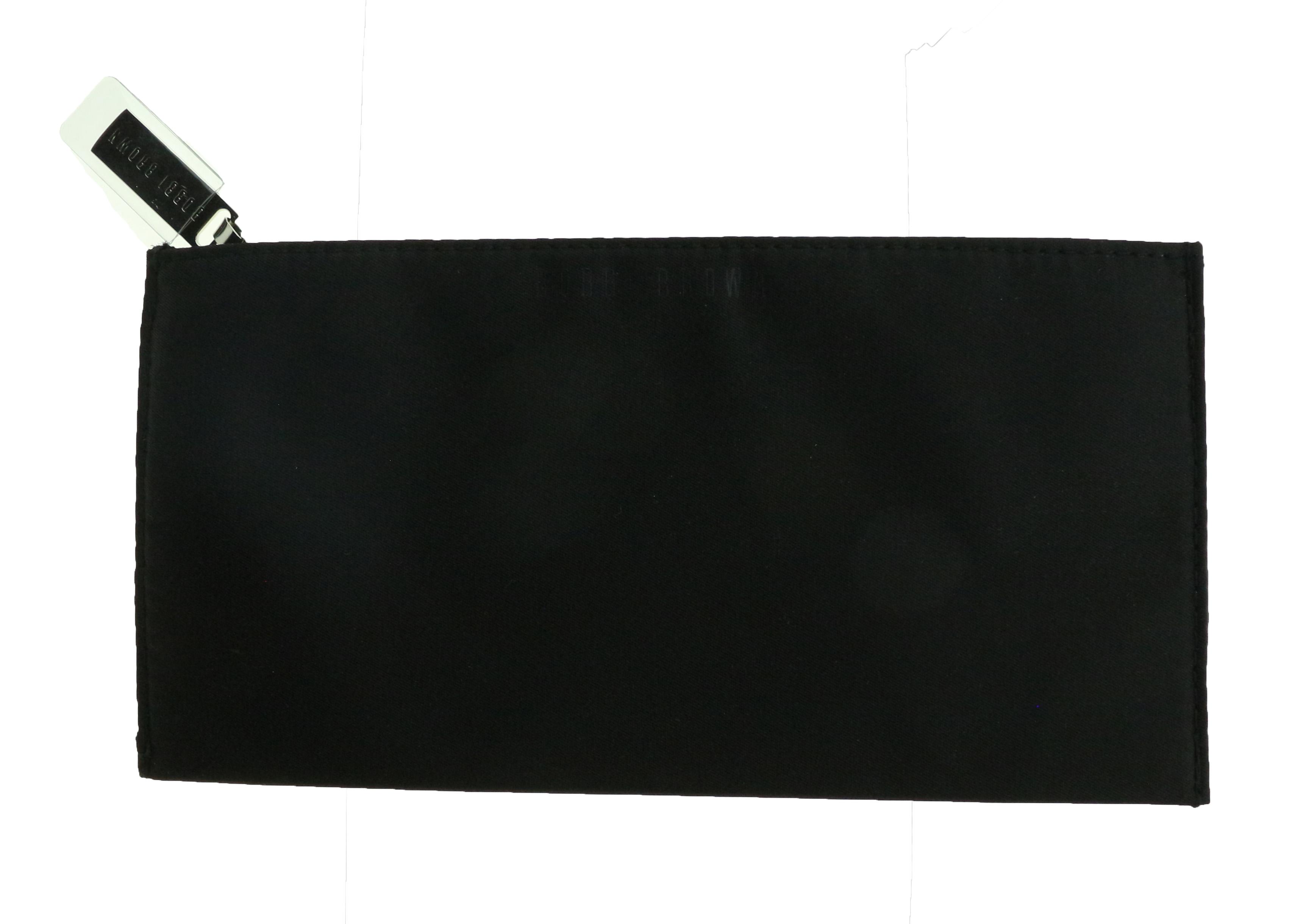 Details About Bobbi Brown Elegant Black Faille Makeup Bag Clutch New