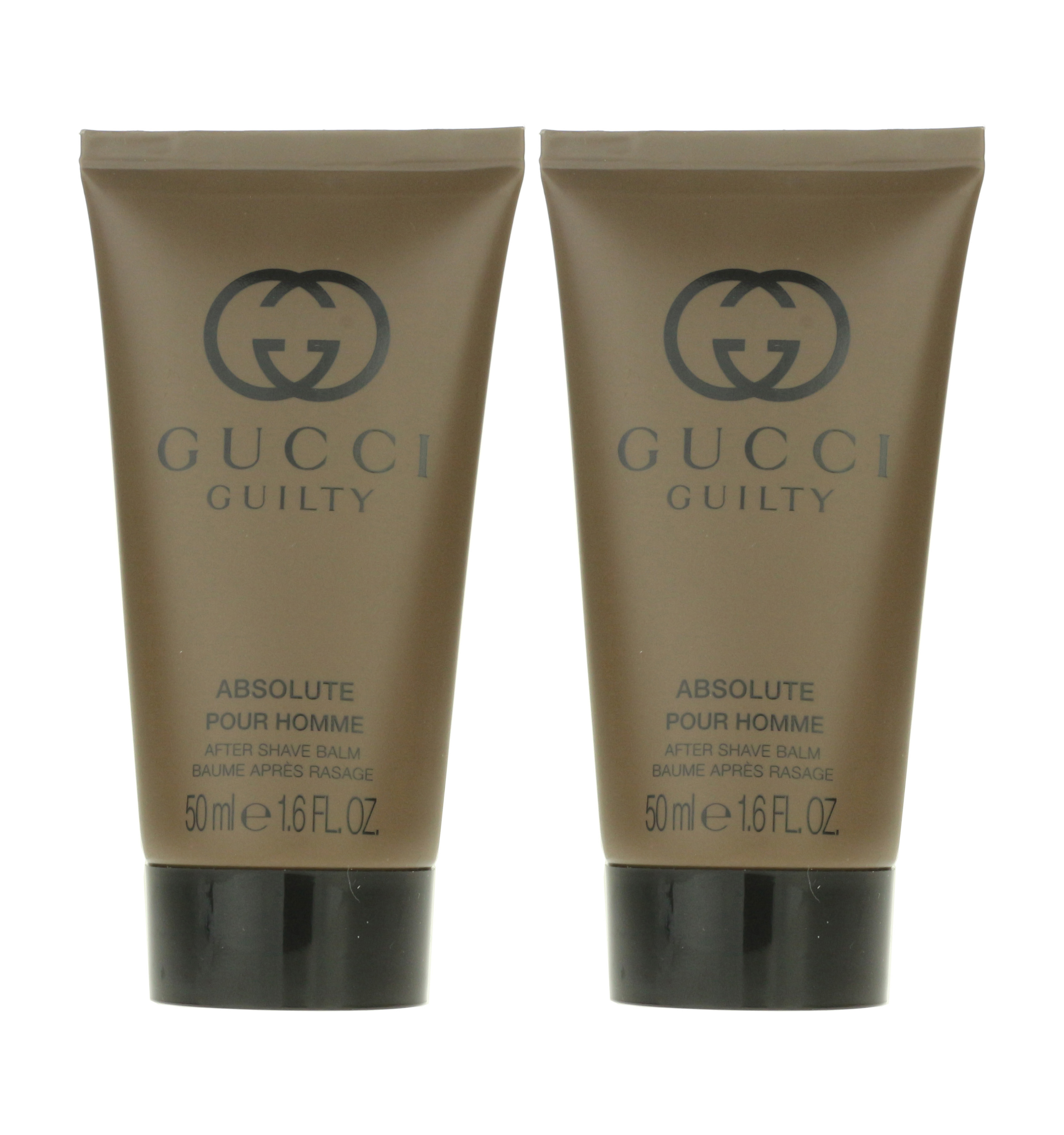 48f44351cbb Details about Gucci Guilty Absolute Pour Homme After Shave Balm 1.6oz 50ml  (Pack Of 2)